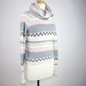 KENJI Anthropologie Cowl Neck Sweater SMALL